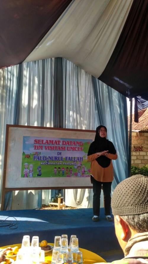 Kunjungan UNICEF ke Paud Nurul Falah di Kecamatan Parung